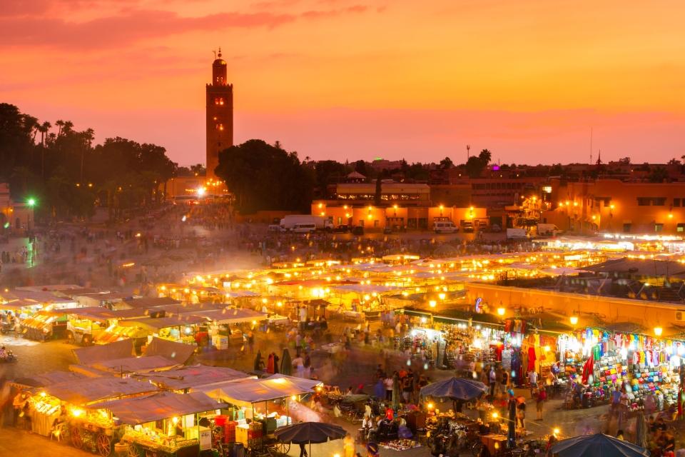 Jemaa El-Fna, (Marrakech, Marruecos)