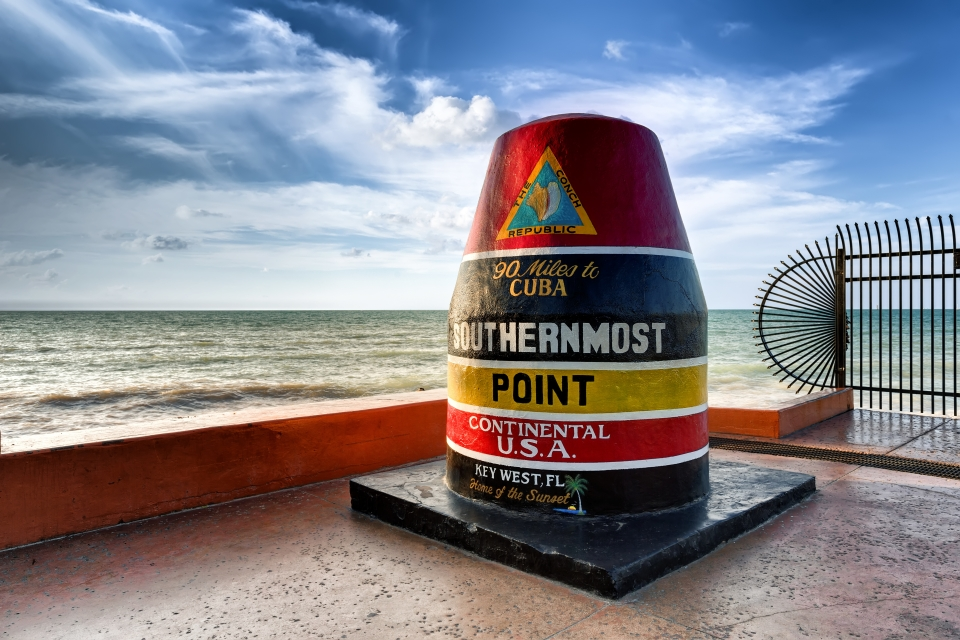 The southernmost point of the continental US