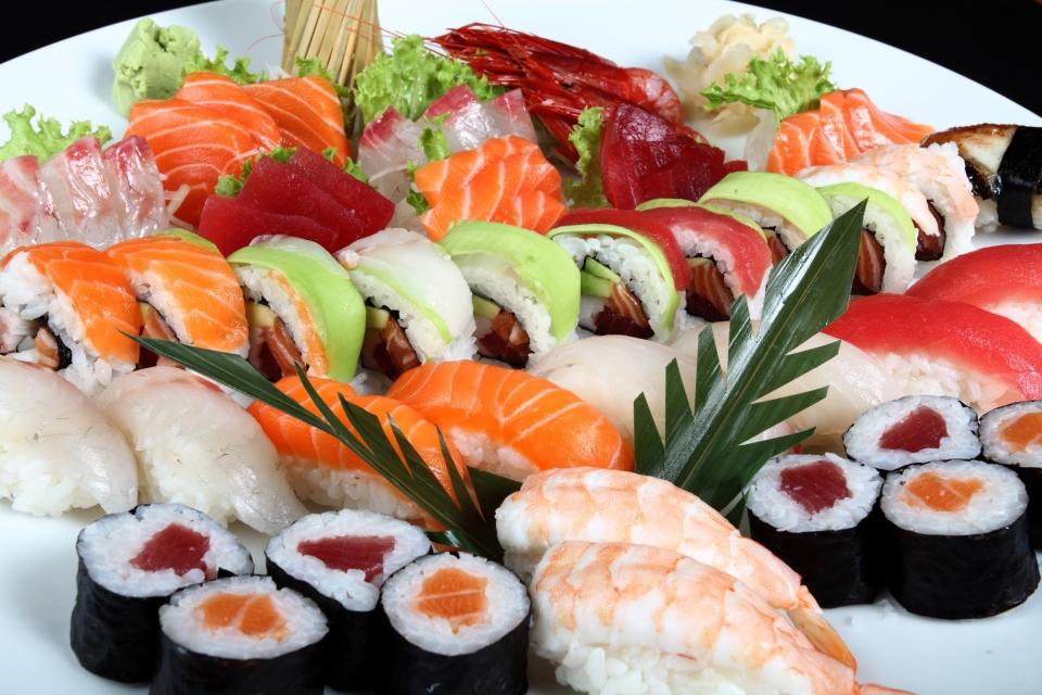 3. Sushi y sashimi