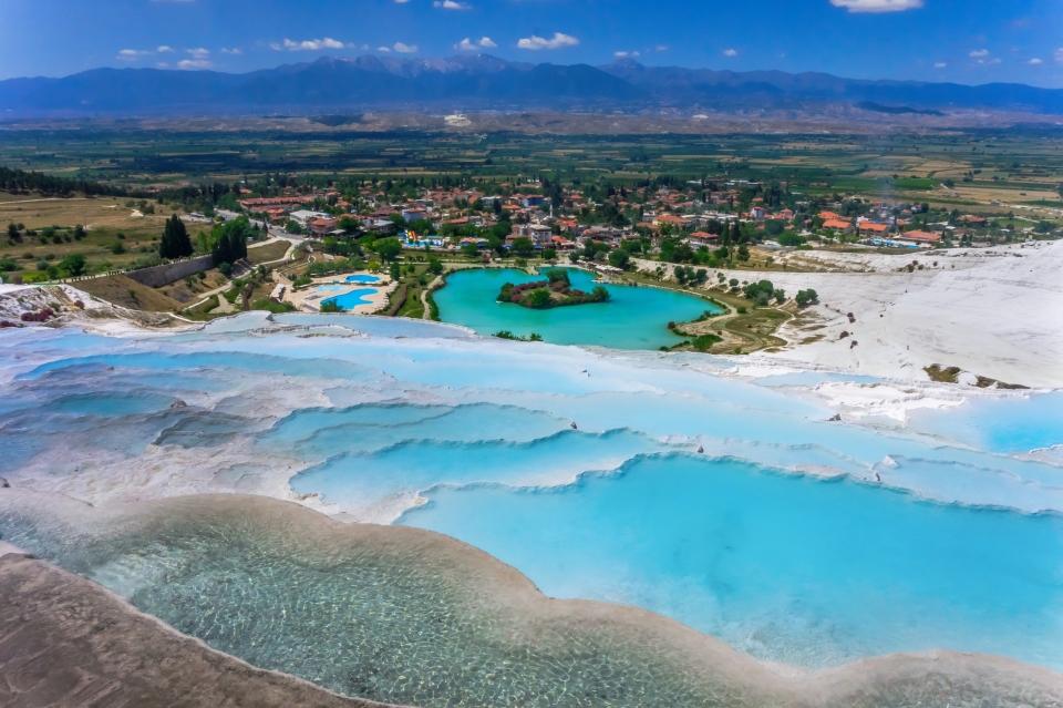 Pamukkale-Hierapolis Thermal Pools in Turkey