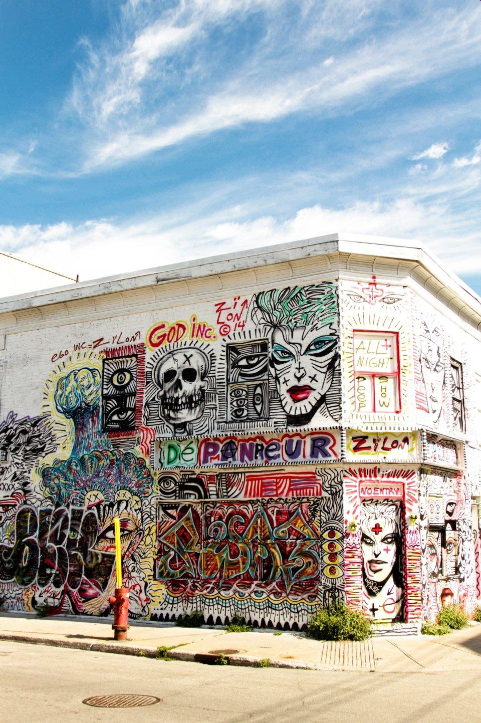 Bewundern Sie die Straßenkunst