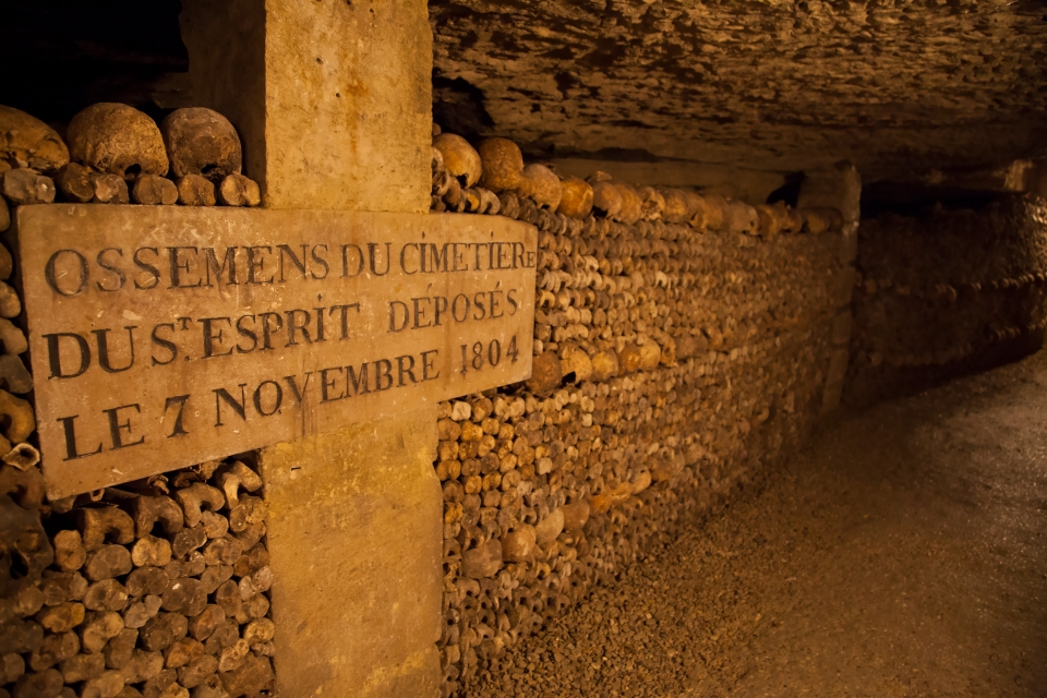 4. Catacombs of Paris, France