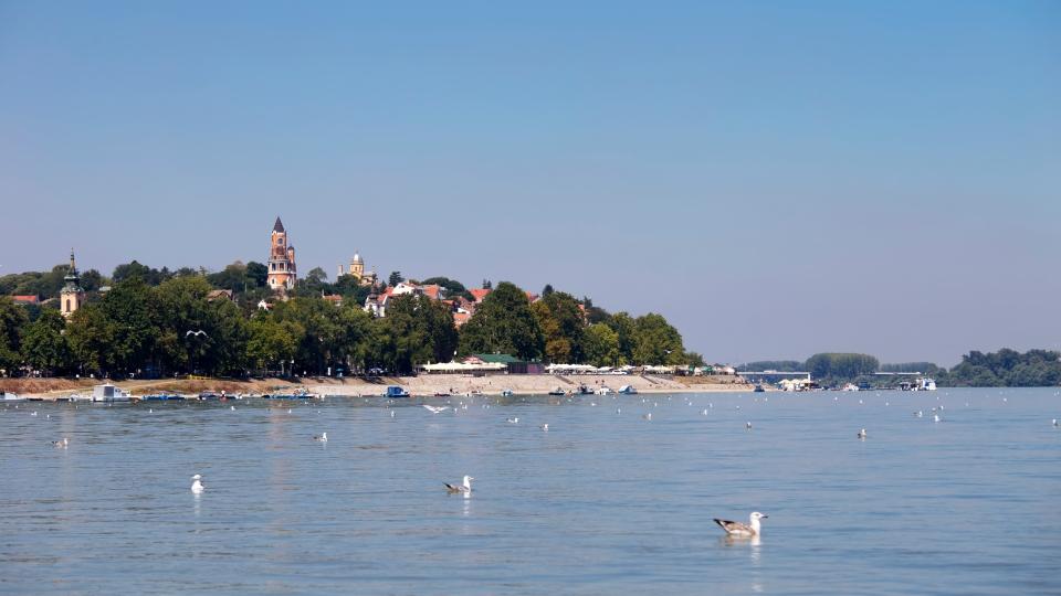 Le quartier traditionnel de Zemun sur les rives du Danube à Belgrade