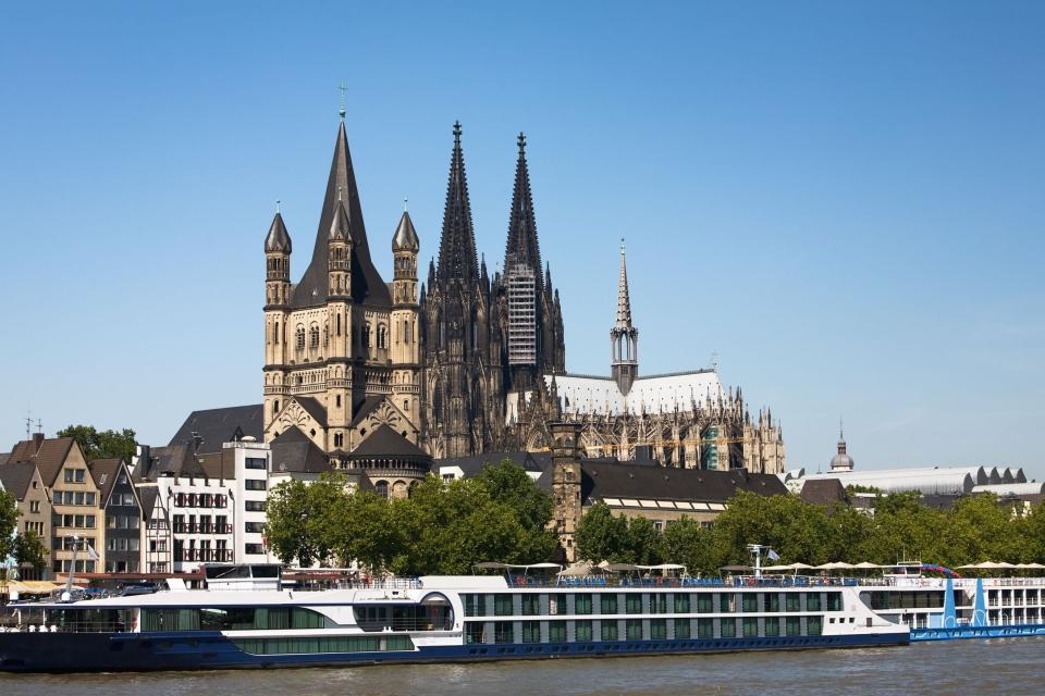 L'imposante cathédrale de Cologne, classée par l'UNESCO