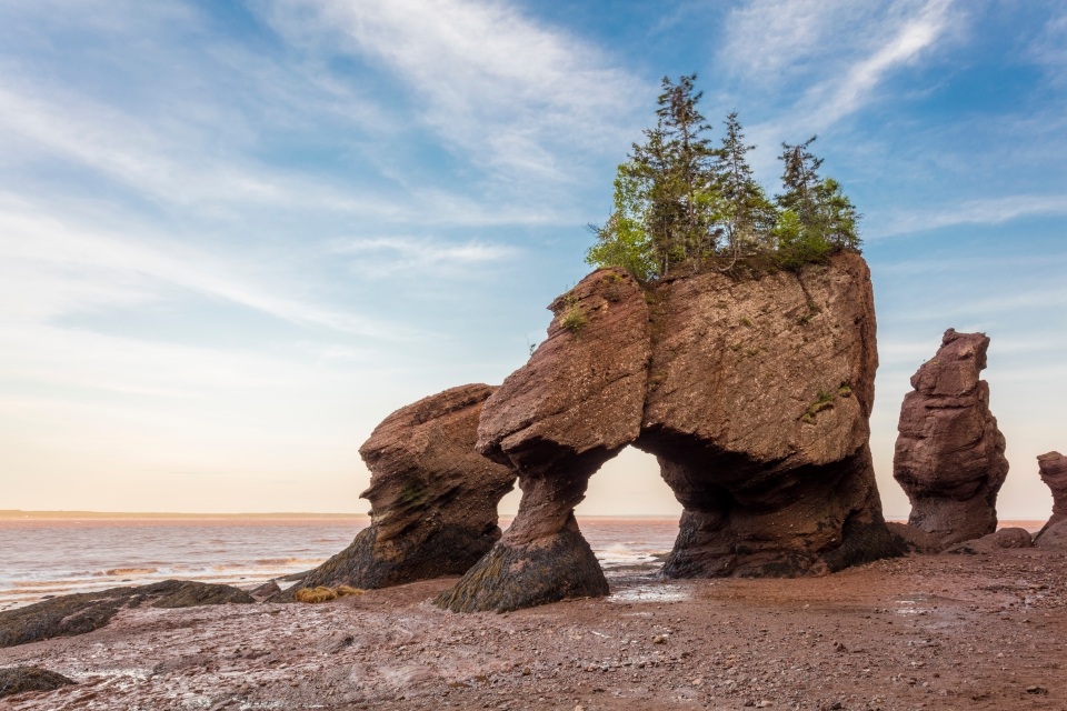 Parco provinciale Hopewell Rocks, New Brunswick