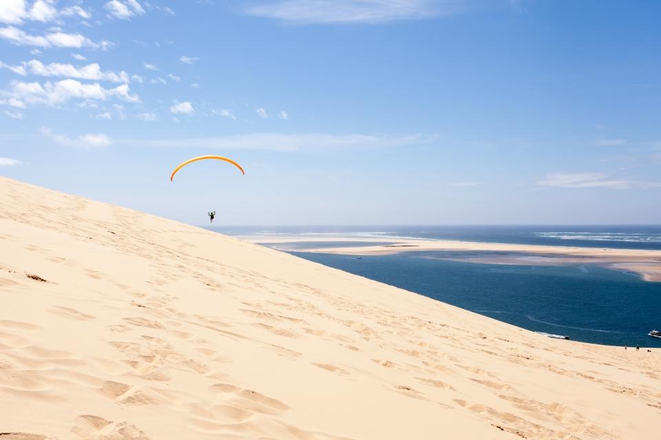 4. Paragliding in der Dune du Pilat