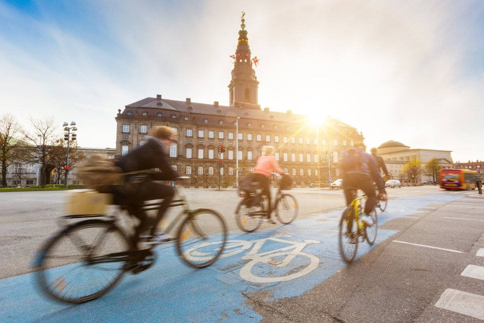 Denmark: Jaywalking and bad bike riding