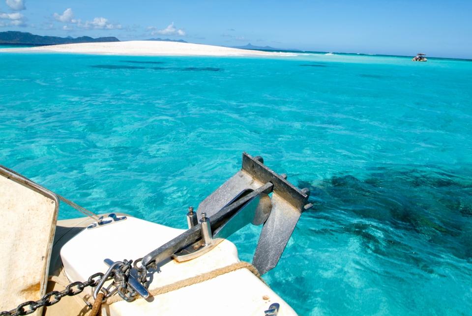 Die Lagune von Mayotte Island