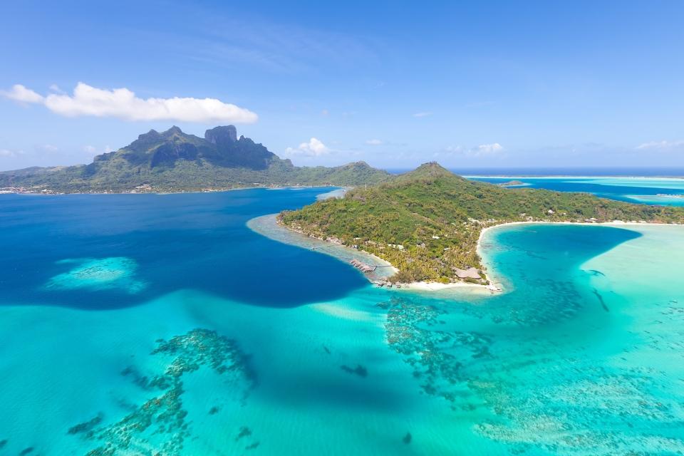 Die Lagune von Bora-Bora