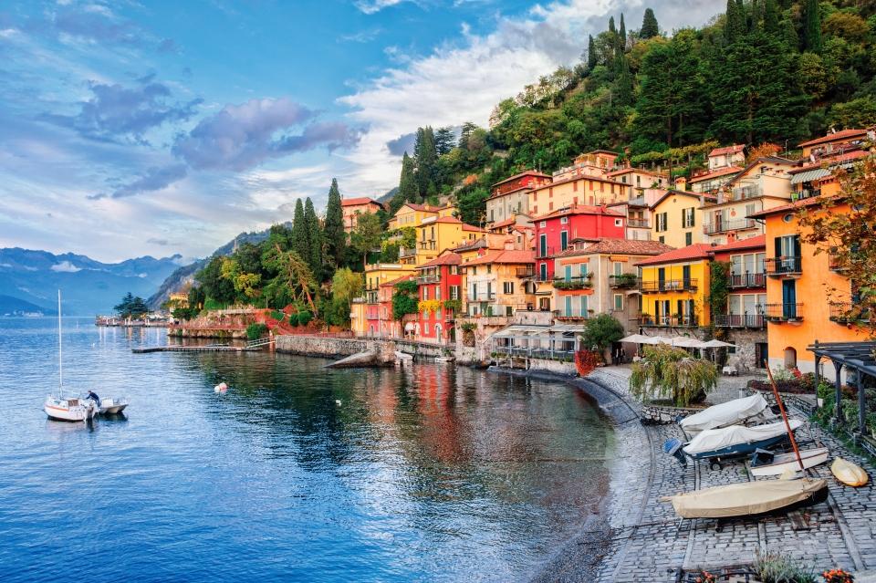 Localidad de Laglio, Italia