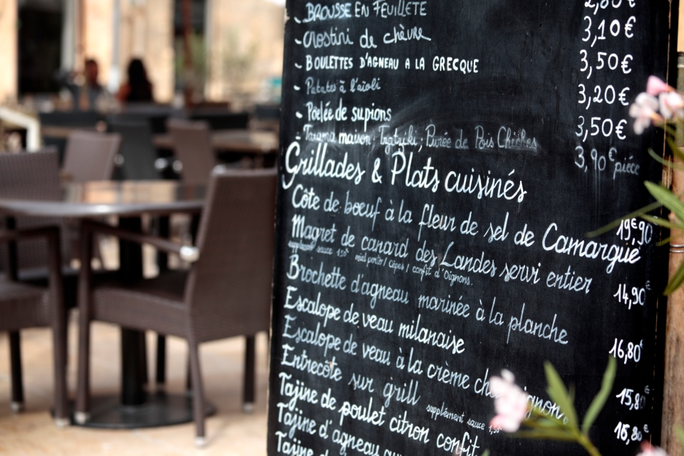 La comida francesa en sus restaurantes más típicos