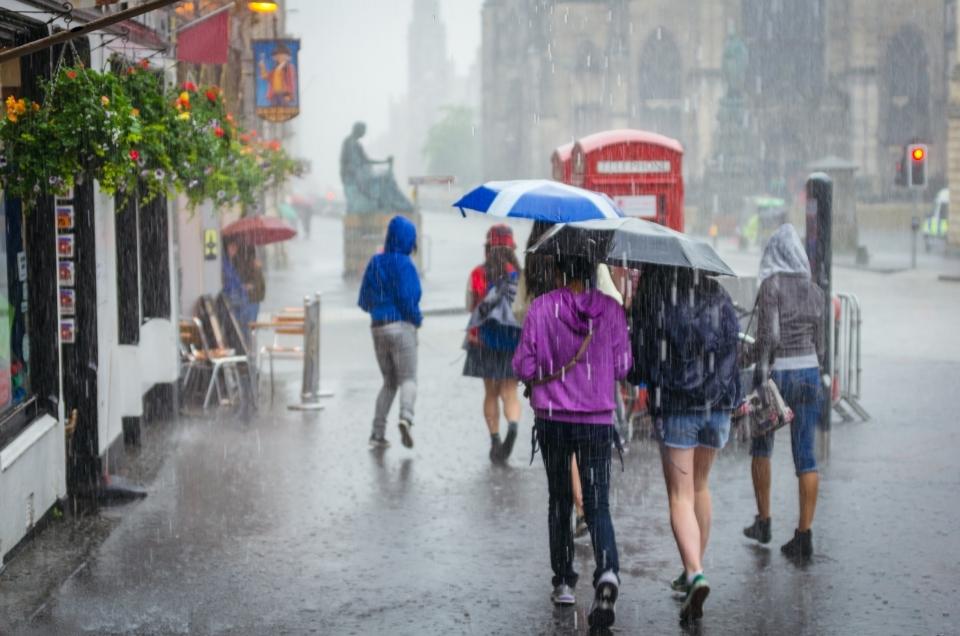 En Inglaterra llueve todo el tiempo