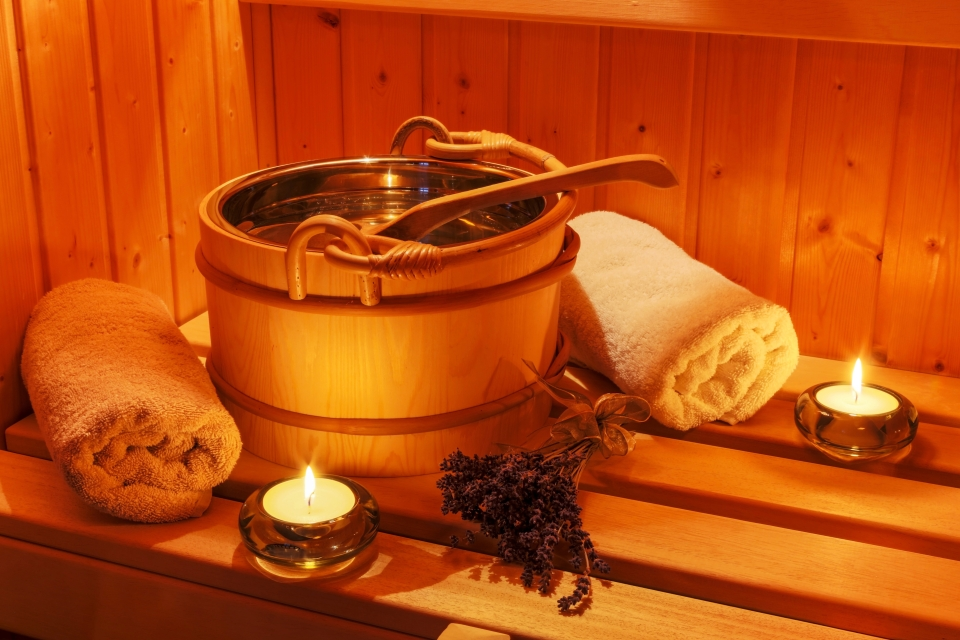 Relax in a steaming hot sauna