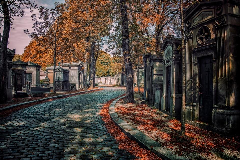 Cementerio Père Lachaise  en París, Francia