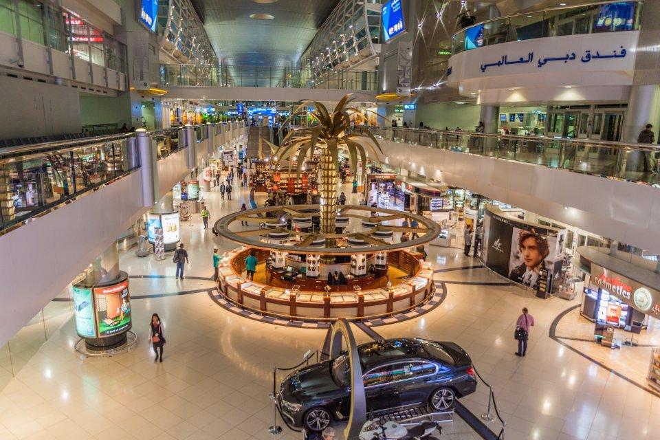 Aéroport international de Dubaï, Émirats Arabes Uni.