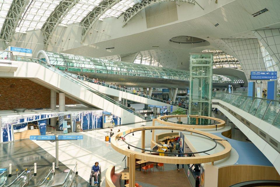 Aéroport international d'Incheon à Séoul, Corée du sud.