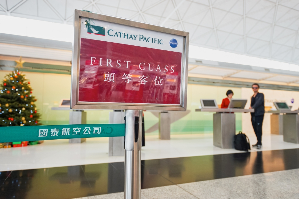 8. Cathay Pacific Airways First Class