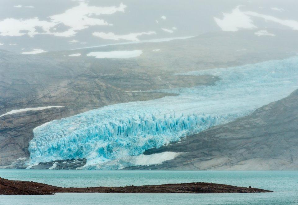 Der Svartisen-Gletscher in Norwegen