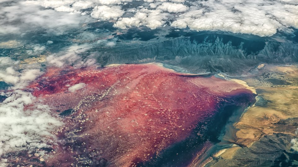 Le lac Natron, Tanzanie