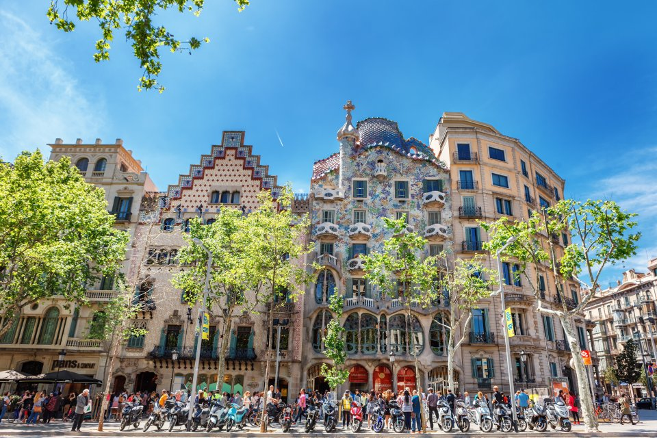 You can admire some of Gaudí's most famous works