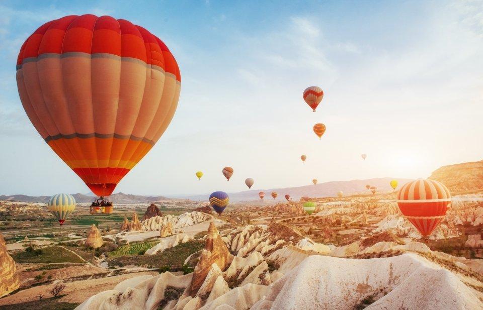 Hot air balloon ride over Cappadocia