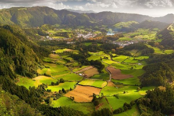 "The ""caldeiras d'Achada das Furnas"" (on São Miguel) , Portugal"