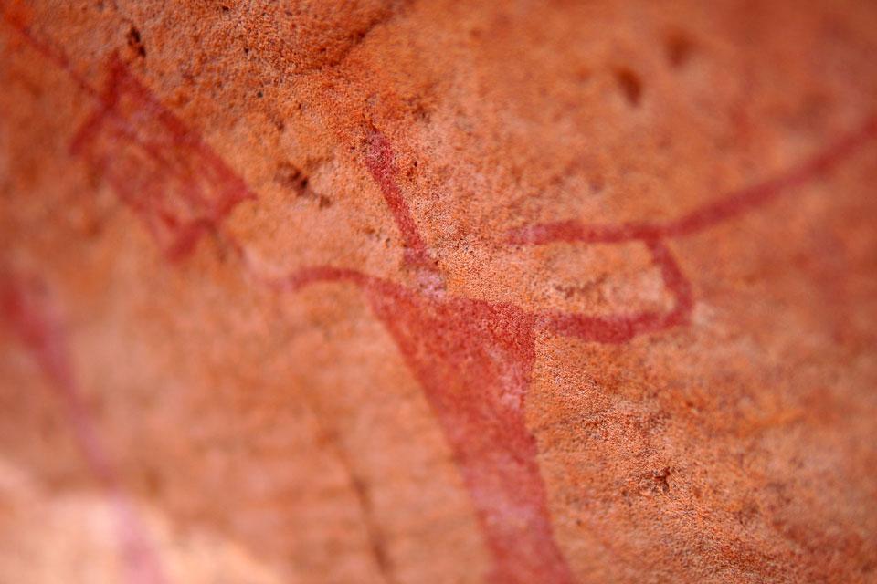 Ajjer's cave paintings. , Algeria