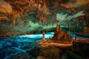 Les paysages, grotte, drach, souterrain, porto cristo, majorque, baléares, espagne, europe, lac