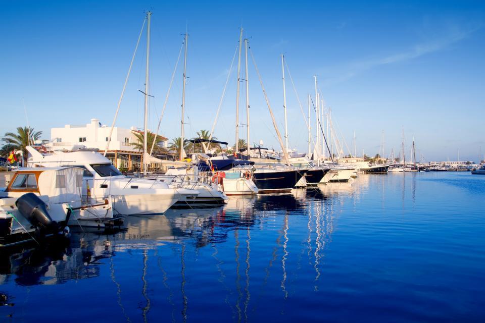 Formentera , Puerto de la Isla de Formentera , España