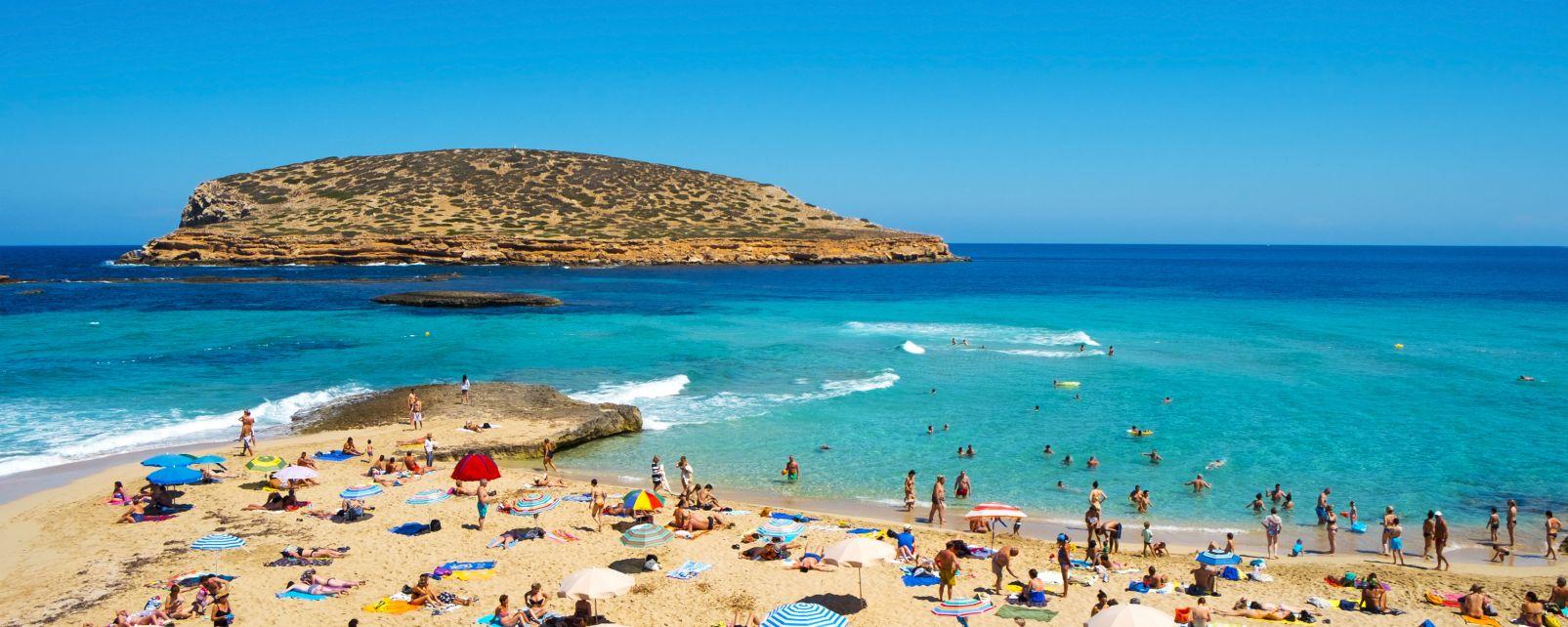 Les côtes, ibiza, île, baléares, espagne, europe, mer, méditerranée, plage, Cala Conta