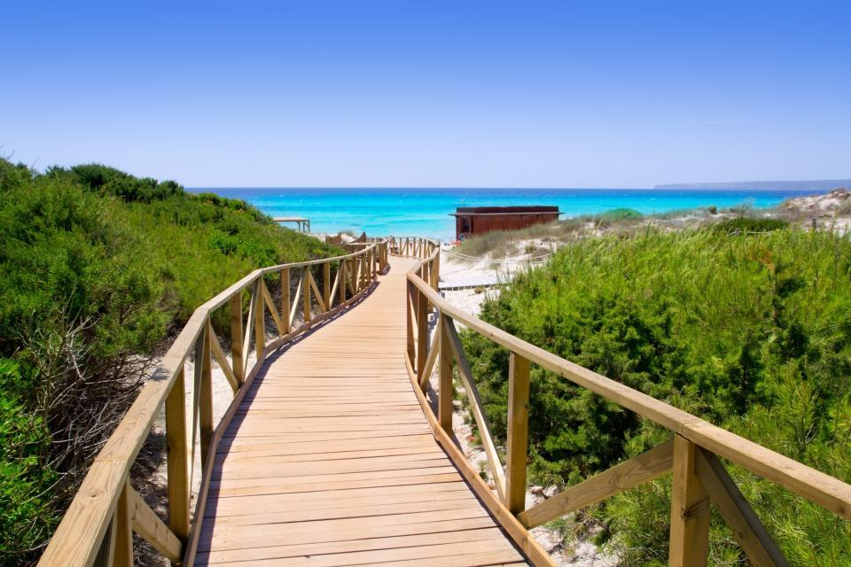Formentera , Caribbean-like beaches in Formentera , Spain
