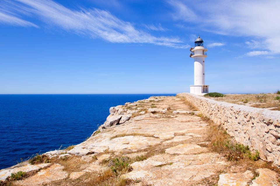 Formentera , The Formentera lighthouse , Spain