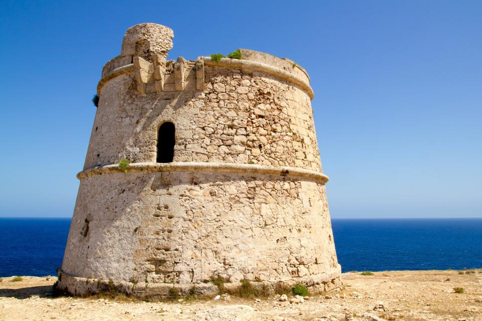 Formentera , An old watchtower in Formentera , Spain