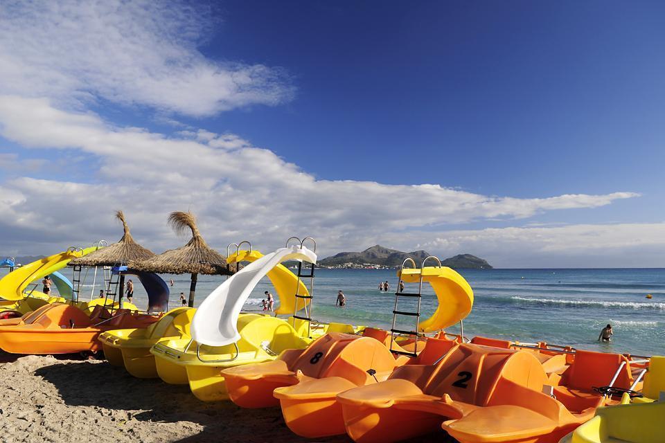 Mallorca , La costa norte , Vista de las playas de Mallorca , España