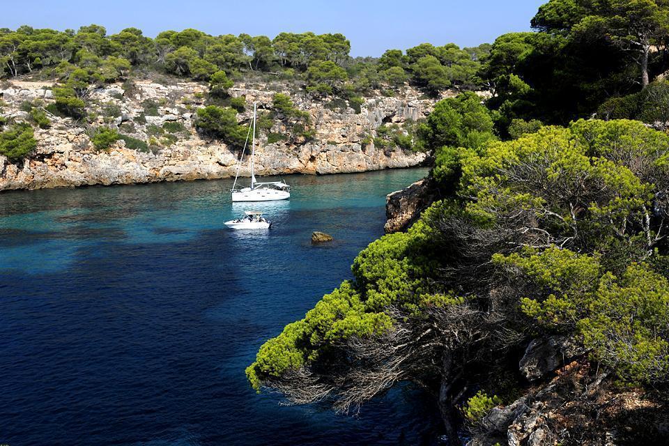 Majorca , The South coast , A sand beach in Majorca , Spain