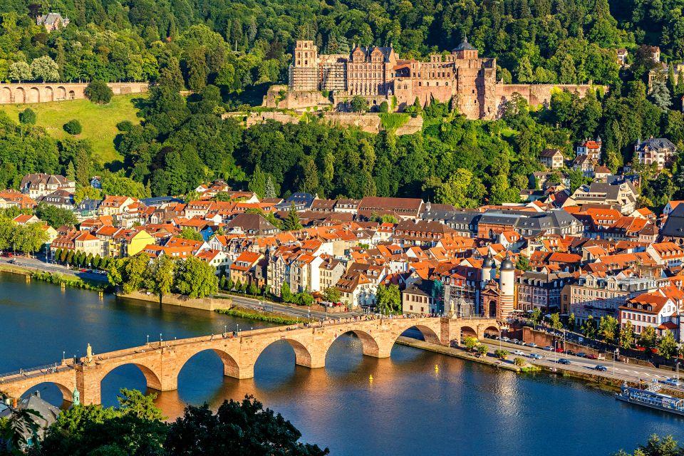 Heidelberg vista dall'alto, Il Bade-Wurtemberg, I paesaggi, Germania