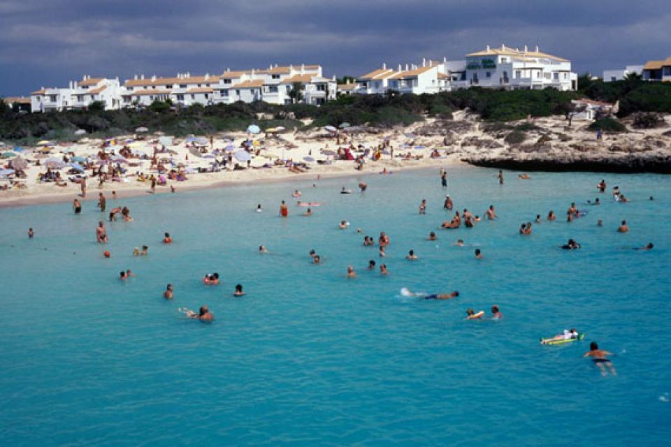 Minorca , La costa meridionale , Spiaggia sulla costa meridionale , Spagna