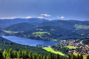 Un pueblecito de la Selva Negra, La Selva Negra, Los paisajes, Alemania