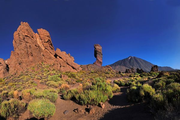 Les paysages, teide, parc, national, volcan, sommet, espagne, europe, canaries