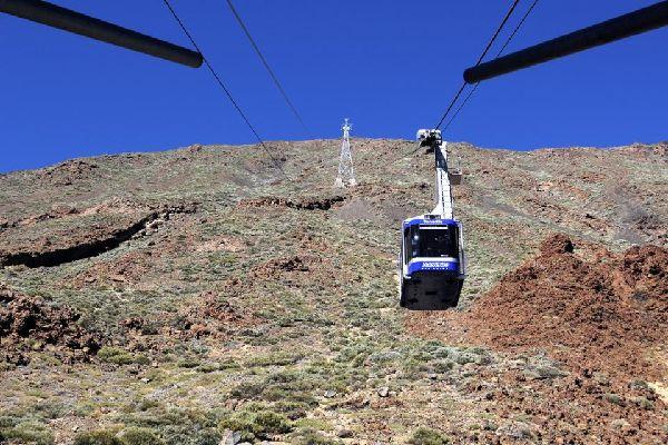 Tenerife , Parque Nacional del Teide , La subida a la cumbre en teleférico , España