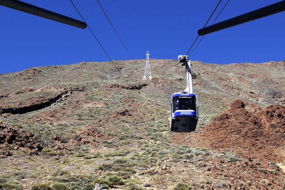 Tenerife , Del Teide National Park , Cable carts in Teide National Park , Spain