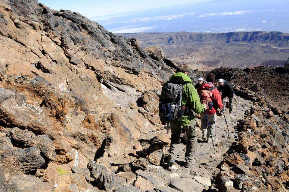 Tenerife , Del Teide National Park , Climb the last few metres on foot , Spain