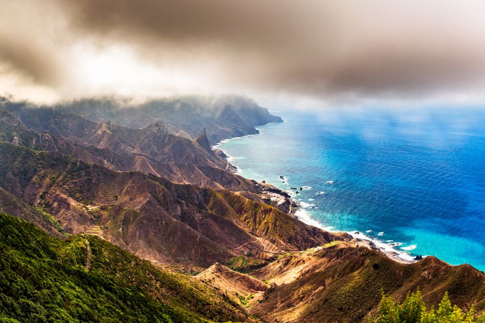 Les paysages, canaries, europe, espagne, anaga, ténérife, côte, mont, montagne, océan, atlantique