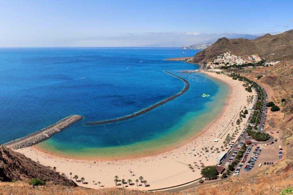 Les paysages, Playa de las Teresitas, anaga, ténérife, cararies, espagne, europe, mont, côte, plage, teresita