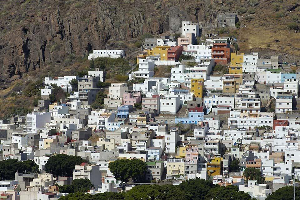 Tenerife , Les monts Anaga , Le village de San Andres , Espagne