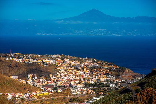Les paysages, la, gomera, san sebastian, espagne, afrique, canaries, atlantique, océan, île, europe