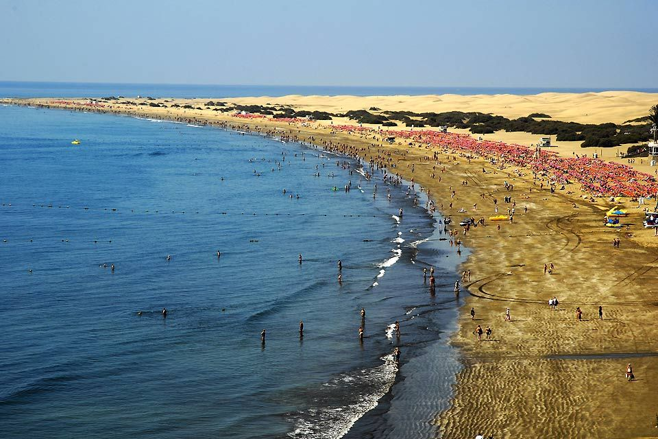 Les paysages, las, palmas, gran, canaria, canaries, europe, espagne, océan, atlantique, afrique, grande canarie, playa del ingles