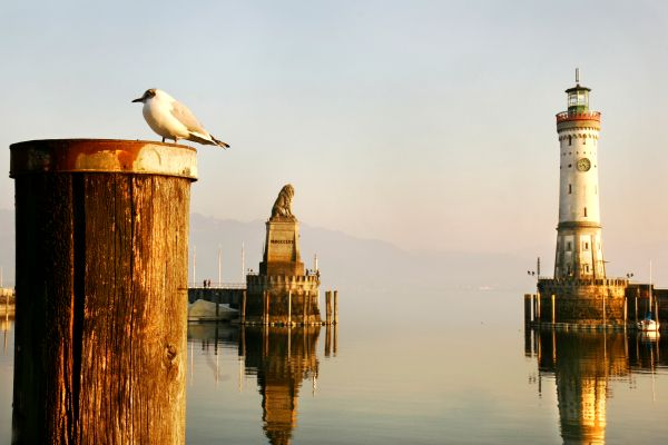 Lake Constance , Sunset over Lake Constance , Germany