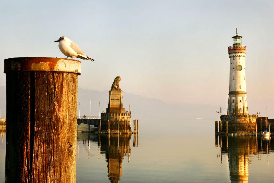 Il lago di Costanza , Tramonto sul lago di Costanza , Germania
