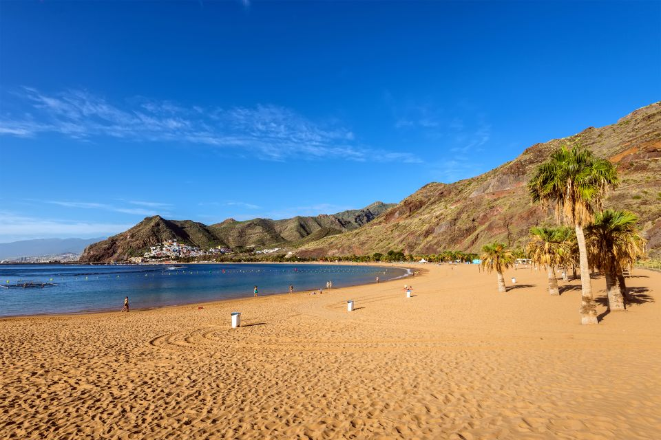 Les côtes, santa cruz, tenerife, île, espagne, canaries, teresitas, plage, mer, méditerranée